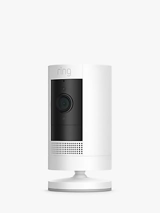 Ring Stick Up Cam Smart Security Camera with Built-in Wi-Fi, Battery Powered, 3rd Generation, White