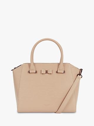 Ted Baker Daryyl Bow Leather Tote Bag, Taupe