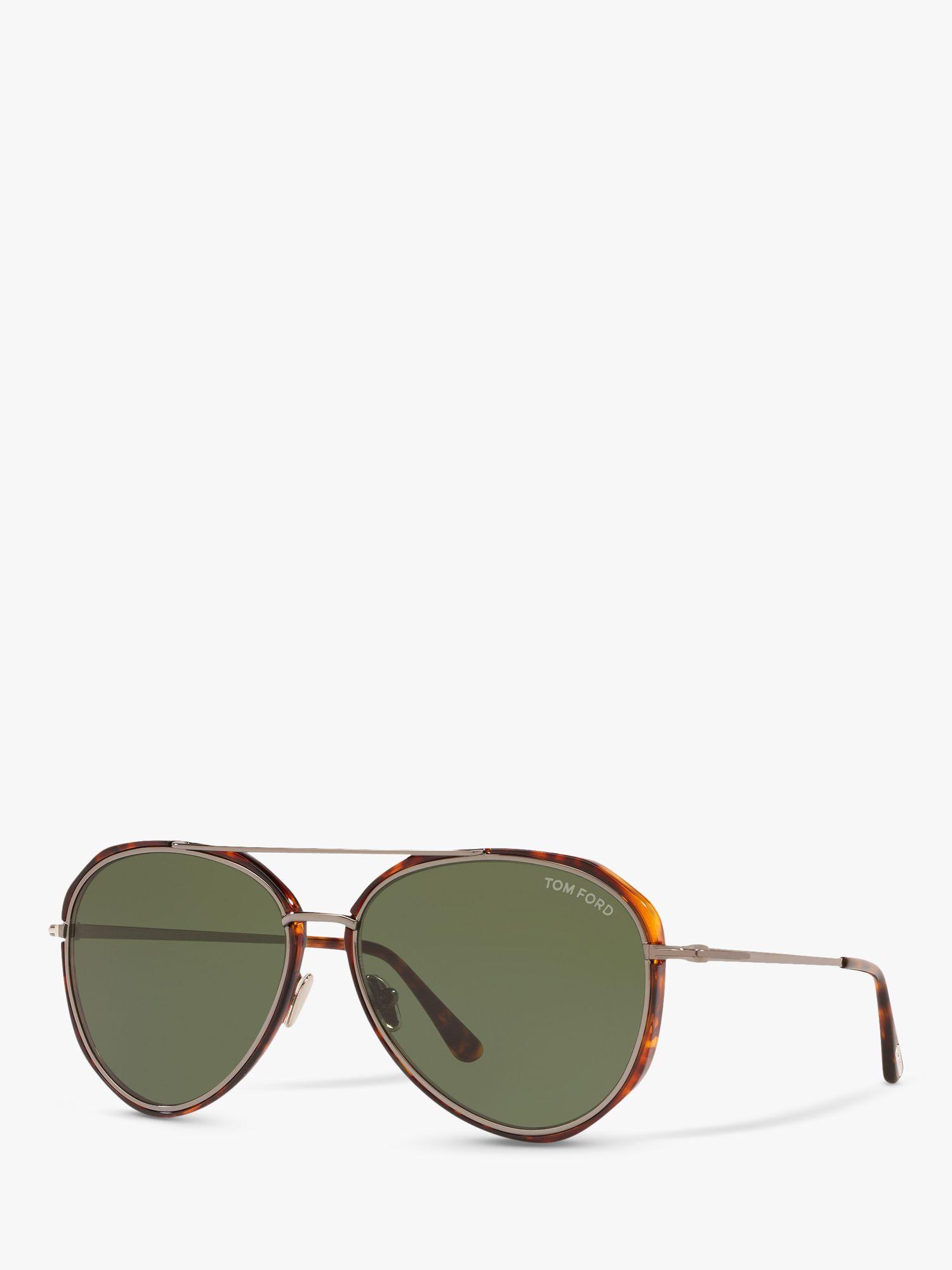Tom Ford Ft0749 Men S Vittorio Aviator Sunglasses Havana Green At John Lewis Partners