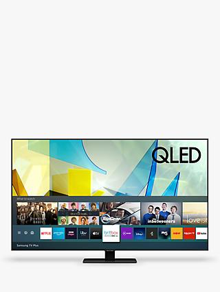 Samsung QE55Q80T (2020) QLED HDR 1500 4K Ultra HD Smart TV, 55 inch with TVPlus/Freesat HD, Black