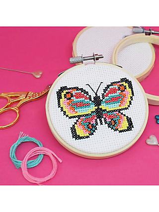 The Make Arcade Cross Stitch Butterfly Craft Kit