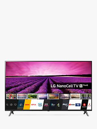 LG 49SM8050PLC (2020) LED HDR NanoCell 4K Ultra HD Smart TV, 49 inch with Freeview Play/Freesat HD, Ceramic Black/Dark Meteor Titan