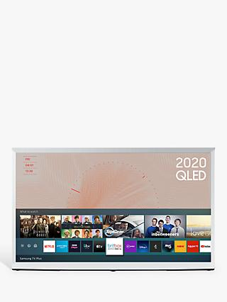 Samsung The Serif (2020) QLED HDR 4K Ultra HD Smart TV, 49 inch with TVPlus & Bouroullec Brothers Design, White