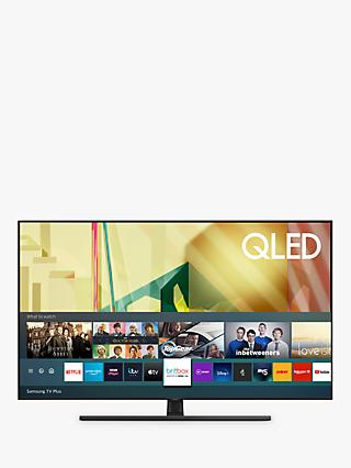 Samsung QE55Q70T (2020) QLED HDR 4K Ultra HD Smart TV, 55 inch with TVPlus/Freesat HD, Black