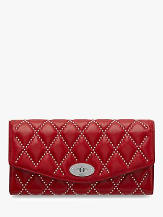 Mulberry Darley Quilted Shiny Buffalo Wallet, Scarlet