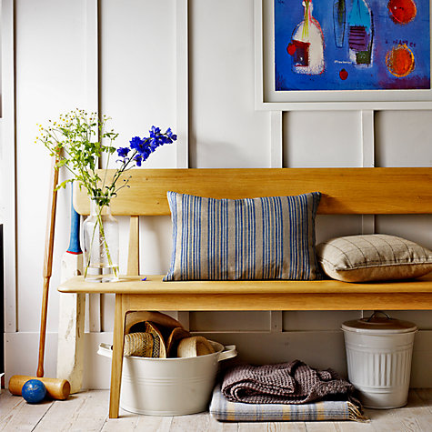 Buy John Lewis Harmony Large Dining Bench with Backrest Online at johnlewis.com