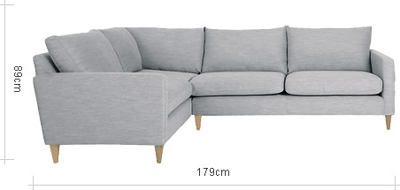 John Lewis Bailey Fixed Cover LHF Corner End Sofa
