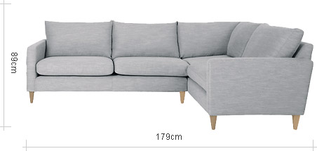 John Lewis Bailey Fixed Cover RHF Corner End Sofa