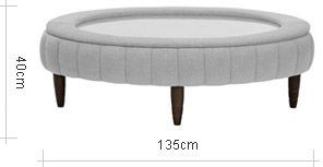 John Lewis Paramount Oval Glass Footstool