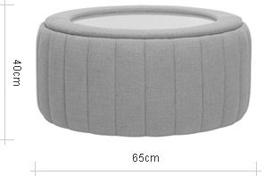 John Lewis Paramount Round Glass Top Footstool