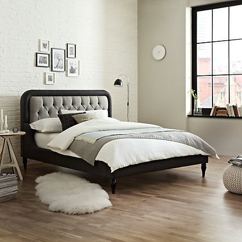 Buy John Lewis Kingsley Bedstead, Kingsize, Slate Online at johnlewis.com