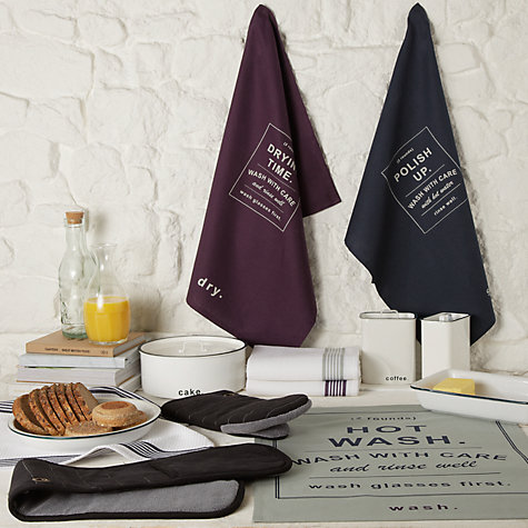 Buy John Lewis Cooks Collection Tea Towels, Set of 3 Online at johnlewis.com