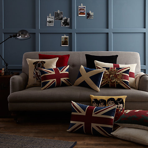 Buy John Lewis Saltire Cushion, Blue Online at johnlewis.com