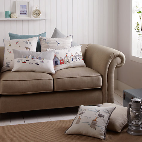 Buy John Lewis Ribble Cushion, Harbour Blue Online at johnlewis.com