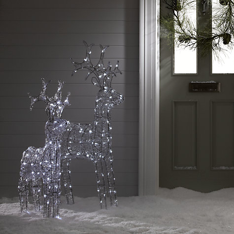 Buy John Lewis Outdoor LED Standing Reindeer Light, White, Small Online at johnlewis.com