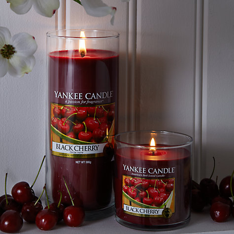Buy Yankee Candle Black Cherry Scented Candle, Small Online at johnlewis.com