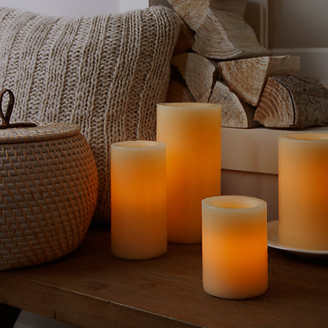 Buy John Lewis LED Candle, H20 x Dia.10cm Online at johnlewis.com