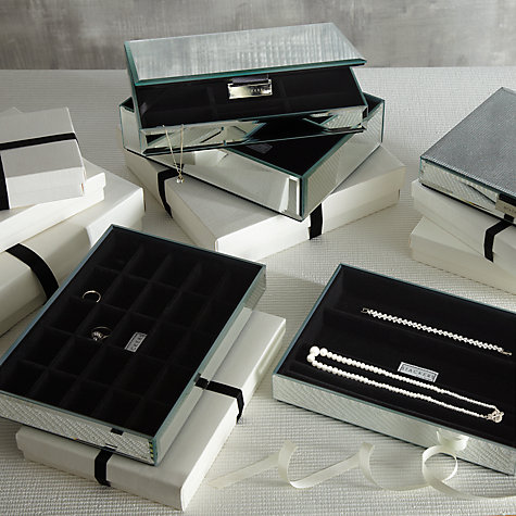 Buy Stackers Glass Jewellery Box, 1 Section Online at johnlewis.com