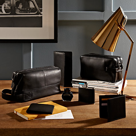 Buy Smith & Canova Leather Wallet and Coin Purse, Black Online at johnlewis.com