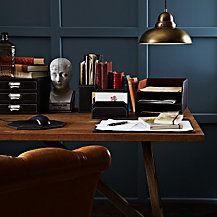 John Lewis Brown Desk Accessories