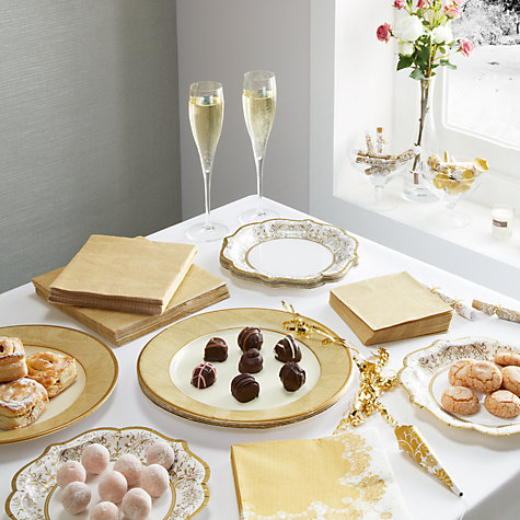 Buy Talking Tables Party Porcelain Paper Plates, Pack of 12 , Gold Online at johnlewis.com