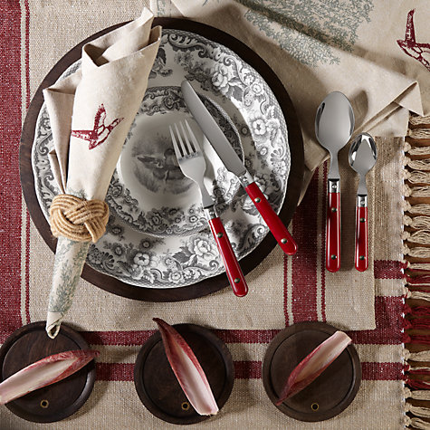 Buy John Lewis Brasserie Dessert Spoon, Russet Online at johnlewis.com