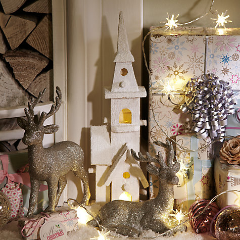 Buy John Lewis Indoor Battery-Operated Christmas Pre-lit House, Small Online at johnlewis.com