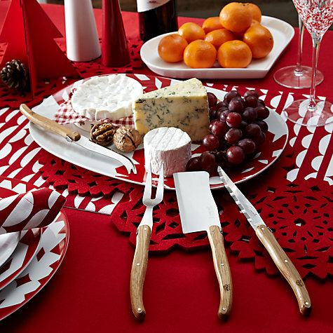 Buy Laguiole Ivory Cheese Set, Set of 3 Online at johnlewis.com