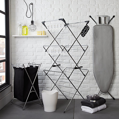 Buy John Lewis 3 Tier Chrome Clothes Airer Online at johnlewis.com