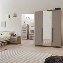 House by John Lewis Mix it Bedroom Range, House Putty/Grey Ash
