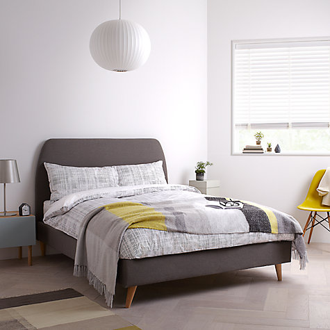 Buy House by John Lewis Jamie Bed Frame, Grey, King Size Online at johnlewis.com