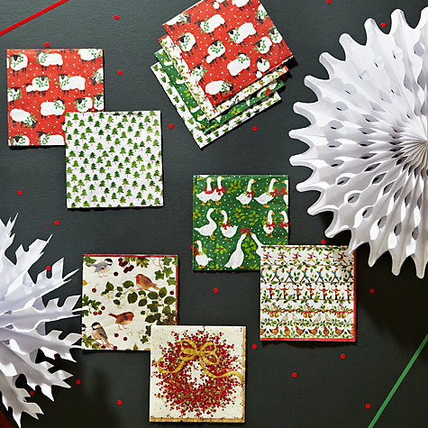 Buy Caspari Holly Sheep Napkins, Pack of 20 Online at johnlewis.com