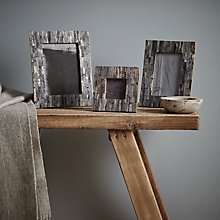 Buy John Lewis Croft Collection Marble Effect Photo Frame Range, Grey Online at johnlewis.com