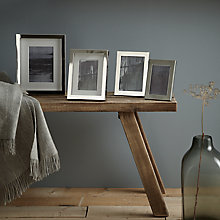 Buy John Lewis Croft Collection Box Photo Frame Silver Plated Range Online at johnlewis.com