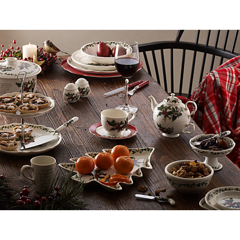 Buy Portmeirion The Holly and The Ivy 2 Tier Cake Stand Online at johnlewis.com