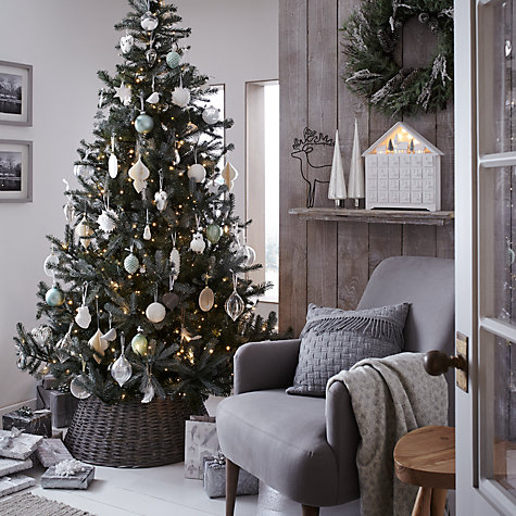 Buy John Lewis Croft Collection Silver Forest Spruce Christmas Tree, 7ft Online at johnlewis.com