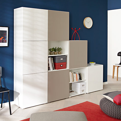Buy House by John Lewis Match 240cm Unit, Mocha/White Online at johnlewis.com