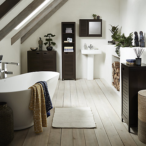 Buy john lewis bali mirrored double wall cabinet john lewis for Bathroom cabinets john lewis uk