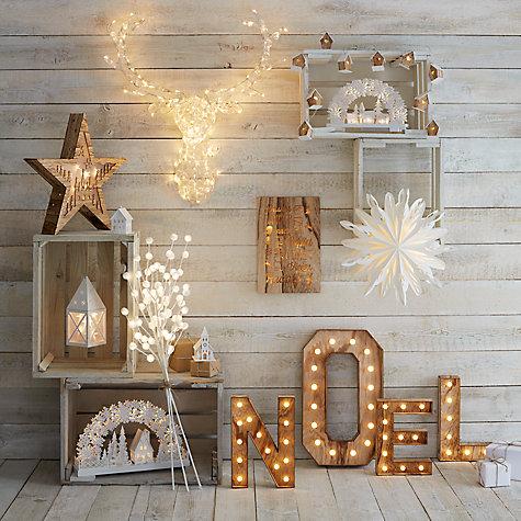 Buy John Lewis Noel Christmas Light Sign, Soft White Online at ...