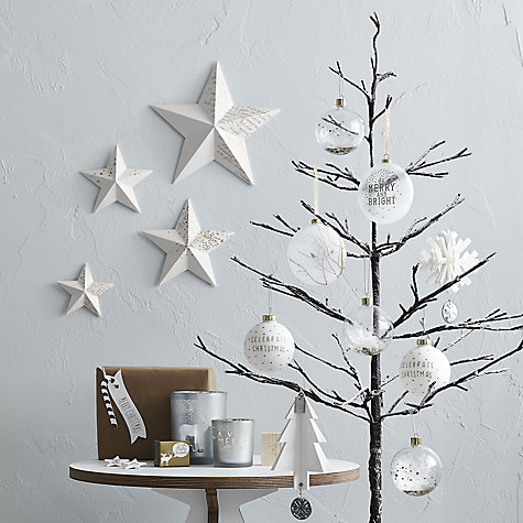 Buy John Lewis Pre-Lit Snowy Twig Christmas Tree, White, 4ft Online at johnlewis.com