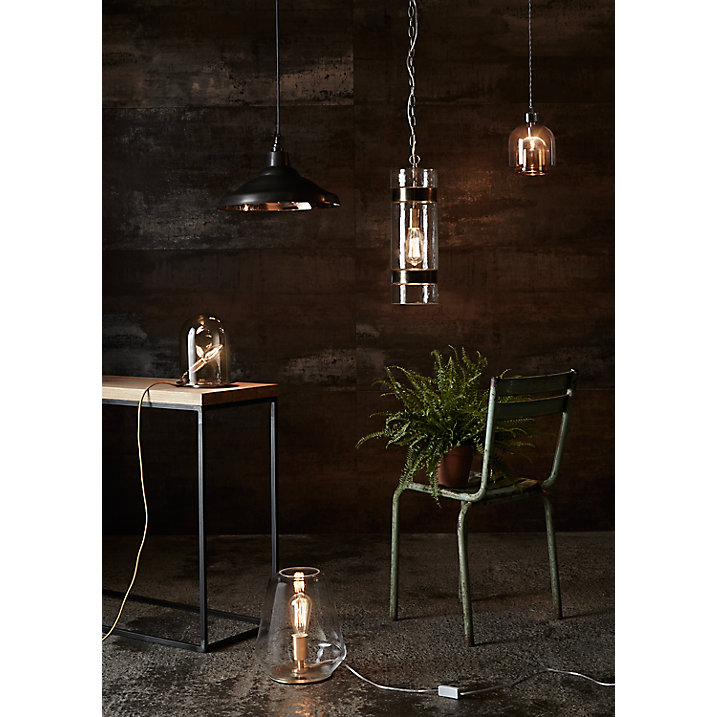 Buy Ebb & Flow Glow in Dome Table Lamp, Brass Online at johnlewis.com