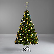 Buy John Lewis The Basics Christmas Tree and Gold Decorations Bundle Online at johnlewis.com