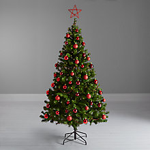 Buy John Lewis The Basics Christmas Tree and Red Decorations Online at johnlewis.com