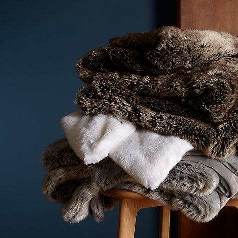 Buy John Lewis Faux Fur Throw John Lewis