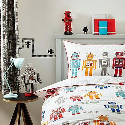 little home at John Lewis Robots Duvet Cover and Pillowcase Set, Single