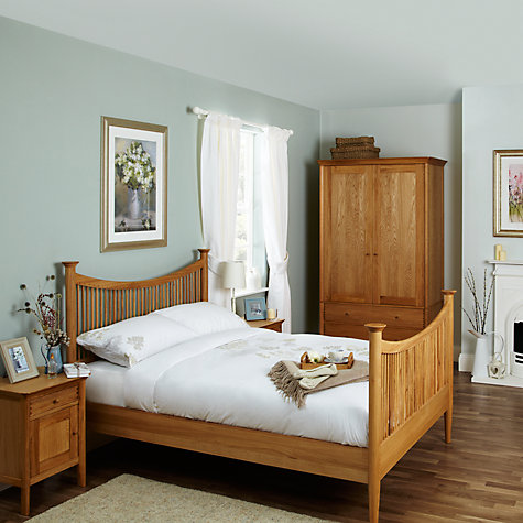 Buy John Lewis Essence 1 Door Bedside Table, Oak Online at johnlewis.com