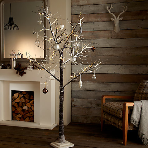 "Buy John Lewis Prelit Snowy Paper Indoor/ Outdoor Christmas Tree, 6ft 8"" Online at johnlewis.com"