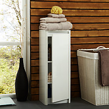 Buy John Lewis Gloss Curve Free Standing Bathroom Floor Cabinet Online at johnlewis.com