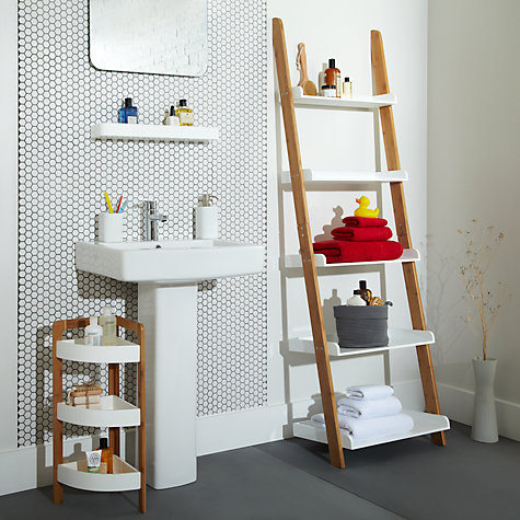 Buy House by John Lewis Bamboo 5 Tier Bathroom Shelf, Natural Online at johnlewis.com