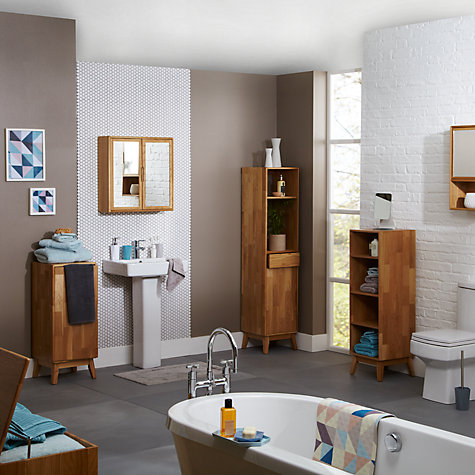 Buy John Lewis More Bathroom Single Towel Cupboard Online at johnlewis.com